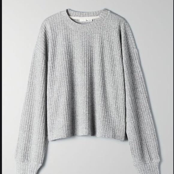 NWT Aritzia Wilfred Free Rudko Longsleeve Shirt XS Grey